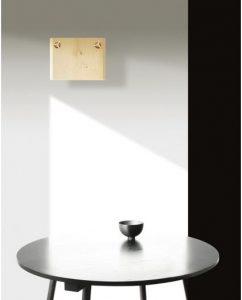 17 - Wooden Wall Light
